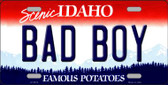 Bad Boy Idaho Background Novelty Metal License Plate