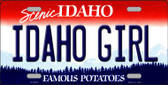 Idaho Girl Idaho Background Novelty Metal License Plate