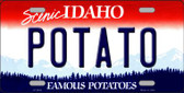 Potato Idaho Background Novelty Metal License Plate