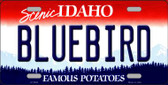 Bluebird Idaho Background Novelty Metal License Plate