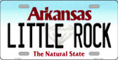 Little Rock Arkansas Background Novelty Metal License Plate