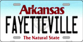 Fayetteville Arkansas Background Novelty Metal License Plate