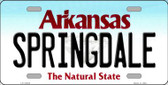 Springdale Arkansas Background Novelty Metal License Plate