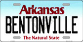 Bentonville Arkansas Background Novelty Metal License Plate