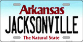 Jacksonville Arkansas Background Novelty Metal License Plate