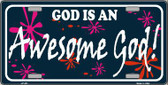God Is An Awesome God Metal Novelty License Plate