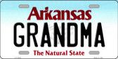 Grandma Arkansas Background Novelty Metal License Plate