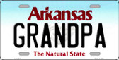 Grandpa Arkansas Background Novelty Metal License Plate