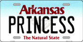 Princess Arkansas Background Novelty Metal License Plate
