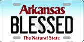 Blessed Arkansas Background Novelty Metal License Plate