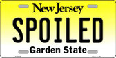 Spoiled New Jersey Background Novelty Metal License Plate