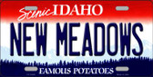 New Meadows Idaho Background Novelty Metal License Plate
