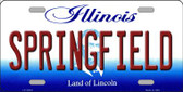 Springfield Illinois Background Metal Novelty License Plate