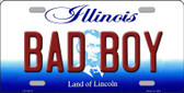 Bad Boy Illinois Background Metal Novelty License Plate