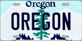 Oregon Background Metal Novelty License Plate