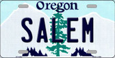Salem Oregon Background Metal Novelty License Plate