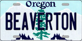 Beaverton Oregon Background Metal Novelty License Plate