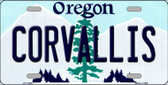 Corvallis Oregon Background Metal Novelty License Plate
