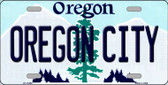 Oregon City Oregon Background Metal Novelty License Plate