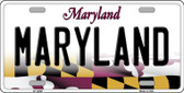 Maryland Background Metal Novelty License Plate