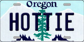 Hottie Oregon Background Metal Novelty License Plate
