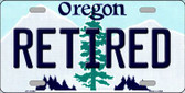 Retired Oregon Background Metal Novelty License Plate