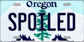 Spoiled Oregon Background Metal Novelty License Plate