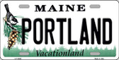 Portland Maine Background Metal Novelty License Plate