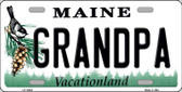 Grandpa Maine Background Metal Novelty License Plate