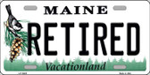 Retired Maine Background Metal Novelty License Plate