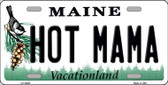 Hot Mama Maine Background Metal Novelty License Plate
