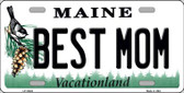 Best Mom Maine Background Metal Novelty License Plate
