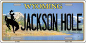 Jackson Hole Wyoming Background Metal Novelty License Plate