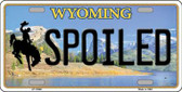 Spoiled Wyoming Background Metal Novelty License Plate