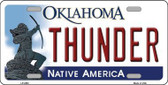 Thunder Oklahoma Novelty State Background Metal License Plate LP-2583