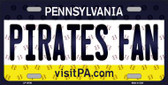 Pirates Fan Pennsylvania Background Novelty Metal License Plate