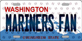 Mariners Fan Washington Background Novelty Metal License Plate
