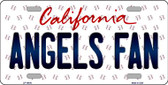 Angels Fan California Background Novelty Metal License Plate