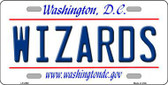 Wizards Washington DC State Background Metal Novelty License Plate LP-2592