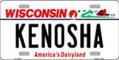 Kenosha Wisconsin Background Metal Novelty License Plate