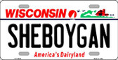 Sheboygan Wisconsin Background Metal Novelty License Plate