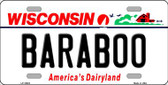 Baraboo Wisconsin Background Metal Novelty License Plate