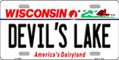 Devils Lake Wisconsin Background Metal Novelty License Plate