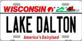 Lake Dalton Wisconsin Background Metal Novelty License Plate