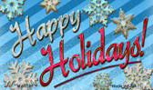 Happy Holidays Novelty Metal Magnet