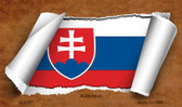 Slovakia Flag Scroll Novelty Metal Magnet