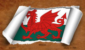 Wales Flag Scroll Novelty Metal Magnet