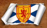 Scotland St. Andrews Flag Scroll Novelty Metal Magnet