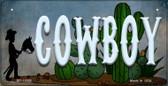 Cowboy Novelty Metal Bicycle License Plate