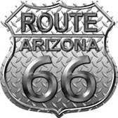 Route 66 Arizona Diamond Highway Shield Novelty Metal Magnet